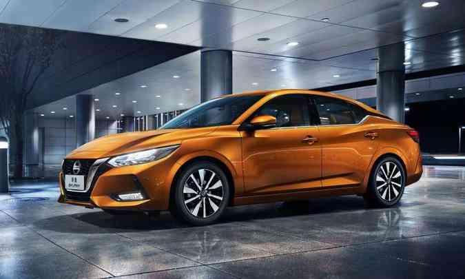 A Nissan não revela quando a nova geração do Sentra chegará ao Brasil, nem qual será a motorização(foto: Nissan/Divulgação)