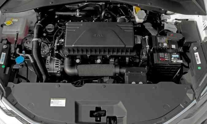 Motor 1.5 turbo, com comando variável de válvulas. que desenvolve 168cv a 5.500rpm e torque de 21,4kgfm a 2.000rpm(foto: JAC/Divulgação)