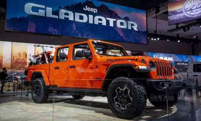 Jeep Gladiator, a picape do Wrangler, não foi descartada(foto: Jeep/Divulgação)