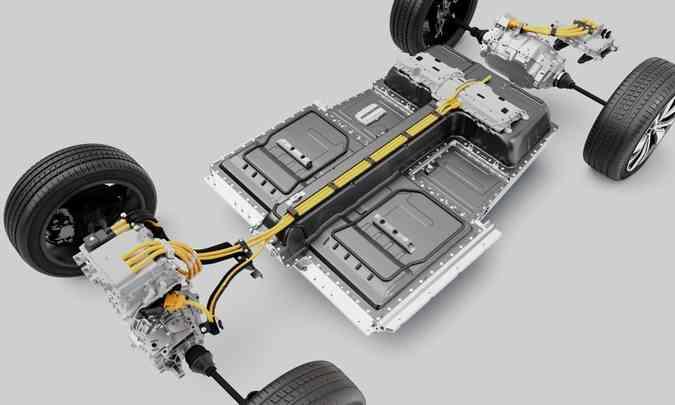 O XC40 Recharge usa a Compact Modular Architecture (CMA), e acelera até 100km/h em apenas 4,8 segundos(foto: Volvo/Divulgação)