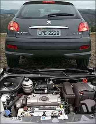 Traseira é praticamente a mesma do 206. Motor flex proporciona bom desempenho acima de 2.000 rpm