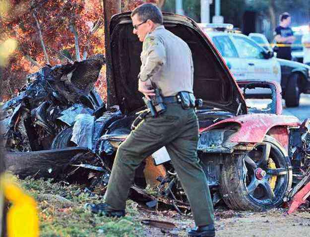 Investigações da polícia culparam a alta velocidade pelo acidente - REUTERS/Dan Watson/The Santa Clarita Valley Signal/Handout