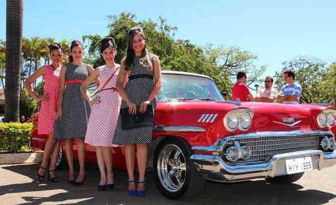 Pelo menos 12 moças pin-up vão participar do encontro em 2015(foto: Paulo Lapafarit/Divulgação)