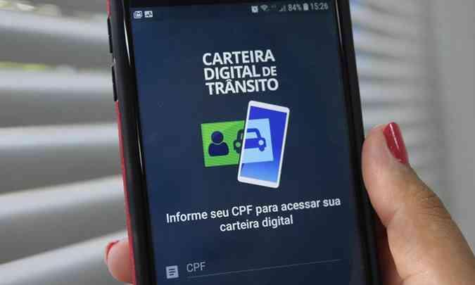 CRLV-e pode ser guardado no aplicativo Carteira Digital de Trânsito(foto: Governo Federal/Divulgação)
