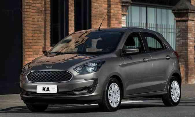 O Ford Ka na versão S 1.0 sobe de patamar de preço e chega a R$ 51.990(foto: Ford/Divulgação)
