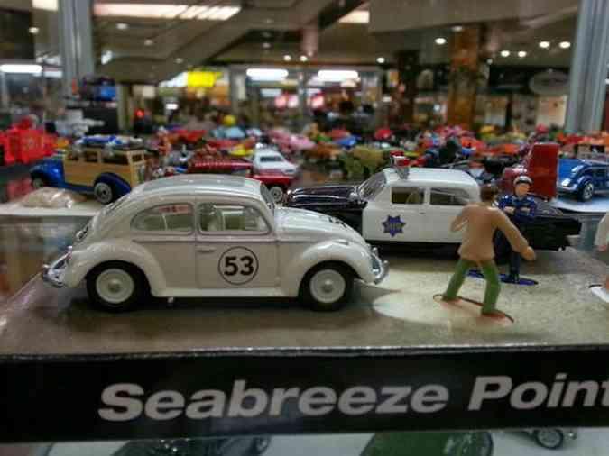 Exposição reúne centenas de miniaturas de veículos em Contagem (Foto: Thiago Ventura/EM/D.A Press)Thiago Ventura/EM/D.A Press