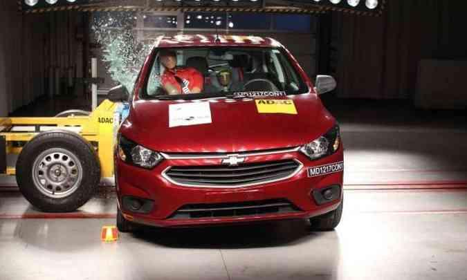 Chevrolet Onix tem nota aumentada no teste de impacto(foto: LatinNCAP/Divulgação)