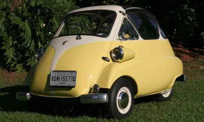 Romi-Isetta, primeiro automóvel produzido no Brasil em 1956(foto: Fundação Romi/Divulgação )