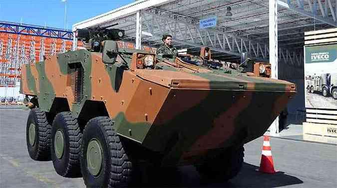 O veículo anfíbio Guarani deverá ser importado pelo Chile, Argentina e Colômbia(foto: Fotos: Omar Freire/Imprensa MG)