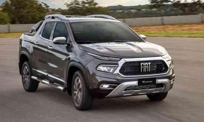 A Fiat Toro teve uma queda significativa nas vendas de abril (6.679 unidades) para maio (3.942), mas manteve a liderança no acumulado do ano(foto: Fiat/Divulgação)