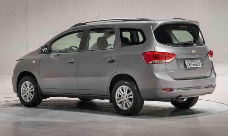 Um dos destaques do modelo de sete lugares é a versatilidade do espaço interno - Chevrolet/Divulgação