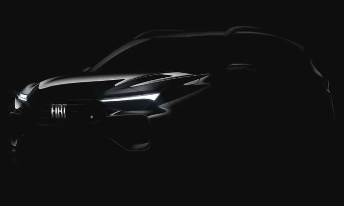 O teaser revela as formas robustas do Progetto 363, SUV derivado do Argo(foto: Fiat/Divulgação)