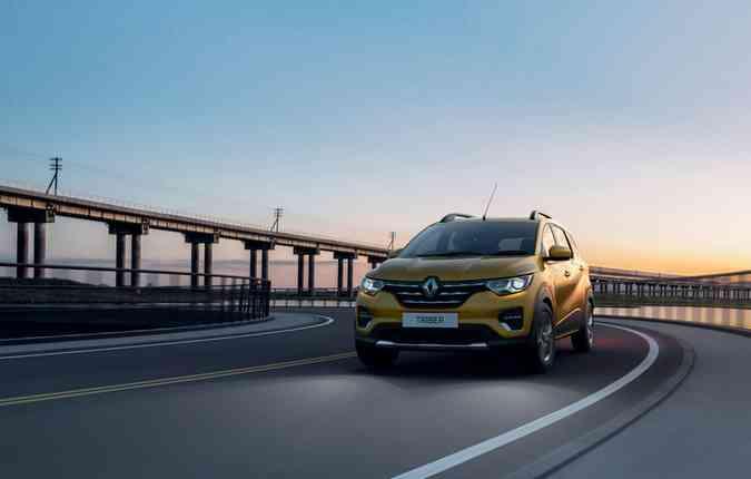 A Renault apresentou o modelo na Índia, mas não há confirmação para o Brasil. Renault/ Divulgação