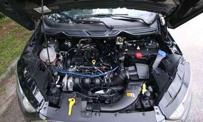 Motor 1.5 de três cilindros favorece o baixo consumo de combustível(foto: Edésio Ferreira/EM/D.A Press)