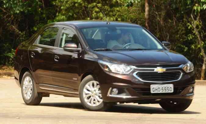 O Chevrolet Cobalt pode estar com a permanência no mercado ameaçada, já que as vendas estão caindo(foto: Euler Júnior/EM/D.A Press - 25/10/16)