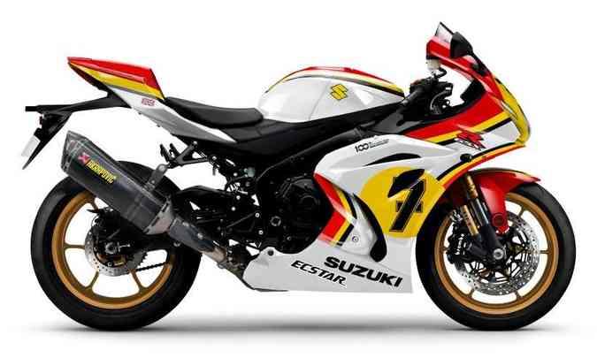 Os modelos GSX-R 1000R Legend Edition homenageiam os primeiros campeões(foto: Suzuki/Divulgação)
