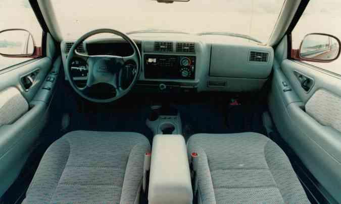 Interior oferecia conforto, principalmente por se tratar de um utilitário(foto: Chevrolet/Divulgação)