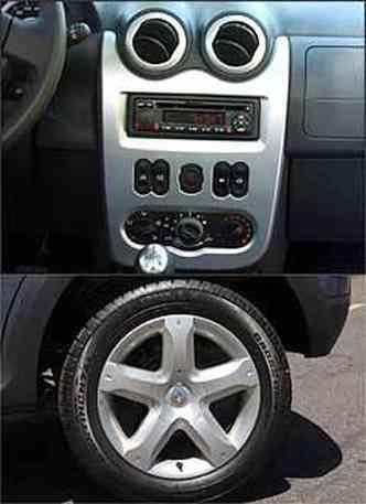 Problema de ergonomia: comandos dos vidros dianteiros estão malposicionados no painel central. Rodas de 16 polegadas ajudam a aumentar altura livre do solo