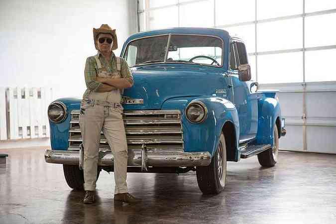 Lyft também oferece caronas em carros antigos, como essa picape 1951(foto: Lyft/Divulgação)
