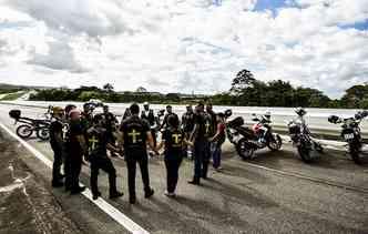 A paixão por duas rodas se tornou guia espiritual do Esquadrão de Cristo Ministério Motociclístico. Foto: Paulo Paiva / ECMM