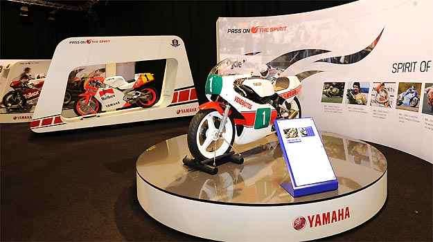 Galeria de motos de competição em homenagem aos 50 anos do Moto GP -