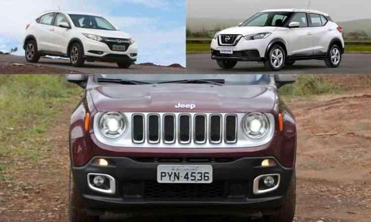 Colagem com fotos de divulgação da Nissan, além de Juarez Rodrigues/EM/D.A Press e Edésio Ferreira/EM/D.A Press