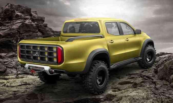 Variação aventureira do conceito tem 1,90 de altura e gancho de metal na traseira(foto: Mercedes-Benz/Divulgação)