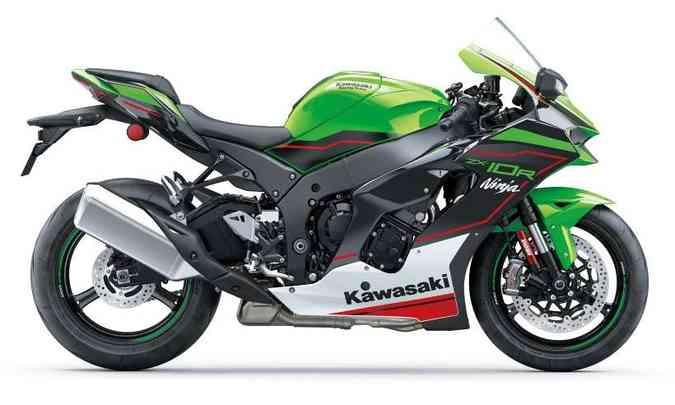 A pintura em verde tem as cores do time de competições da Kawasaki (foto: Kawasaki/Divulgação)