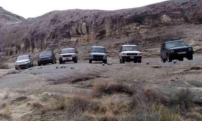 Em Amangiri, todas as gerações do Discovery marcaram presença, ajudando a contar a história do SUV(foto: Enio Greco/EM/D.A Press)