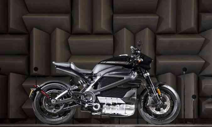 O projeto LiveWire com motor elétrico vira realidade em 2019(foto: Harley-Davidson/Divulgação)