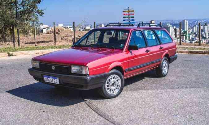 A perua Santana Quantum foi produzida pela Volkswagen no Brasil de 1985 a 2003(foto: Jorge Lopes/EM/D.A Press)