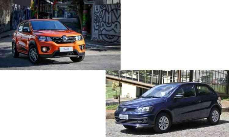 Colagem com fotos de divulgação da Renault, além de Juarez Rodrigues/EM/D.A Press