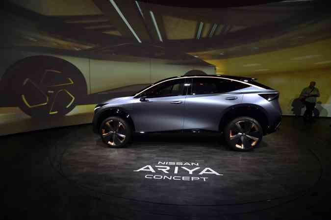 Nissan Ariya conceito apresentado durante o CES 2020(foto: David Becker/Getty Images/AFP)