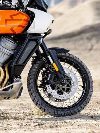 A versão Special pode vir equipada opcionalmente com rodas raiadas, melhores no fora de estrada(foto: Harley-Davidson/Divulgação)