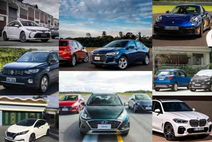 (foto: Fotos: Toyota/Chevrolet/Porsche/VW/Hyundai/Ford/BMW/Divulgação)