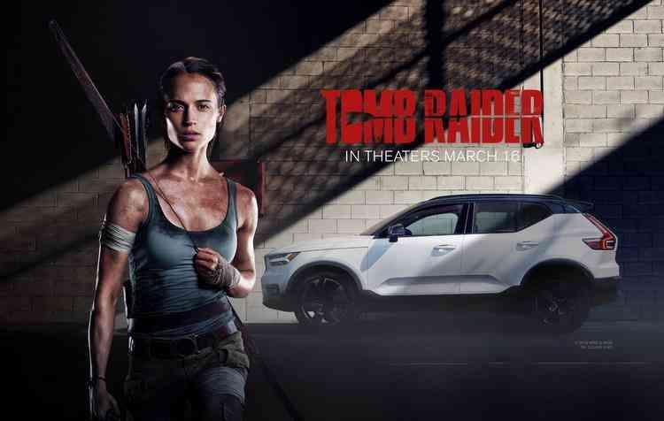 Novo SUV da Volvo irá aparecer com a atriz Alicia Vakander. Foto: Volvo / Divulgação - Novo SUV da Volvo irá aparecer com a atriz Alicia Vakander. Foto: Volvo / Divulgação