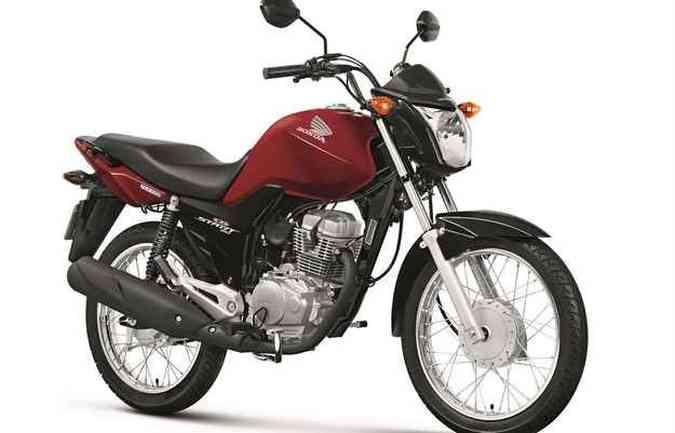 A CG 150 Start pode ser adquirida nas cores preta e vermelha(foto: Honda/ divulgação)