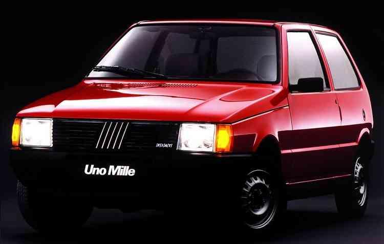 Uno Mille é o mais procurado entre os usados. Foto: Fiat / Divulgação -