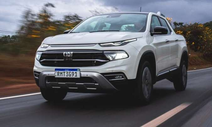 A Fiat Toro é sucesso de vendas, mas consumidor pode esperar até 120 dias para receber a picape(foto: Jorge Lopes/EM/D.A Press)