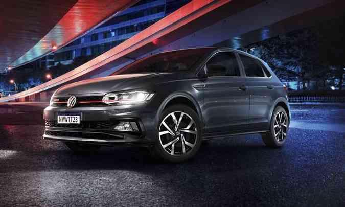 Na linha 2021, a versão esportiva do Polo ganha rodas de 18 polegadas como opcional(foto: Volkswagen/Divulgação)