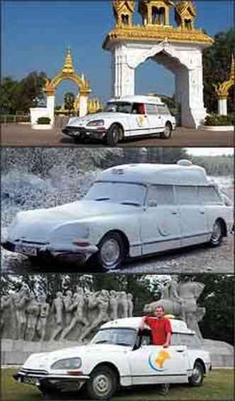 Modelo francês produzido em 1970 foi visto em diferentes partes do mundo e suportou bem as mudanças de clima: Manuel esteve também no Brasil(foto: Fotos: Citroën/Divulgação)
