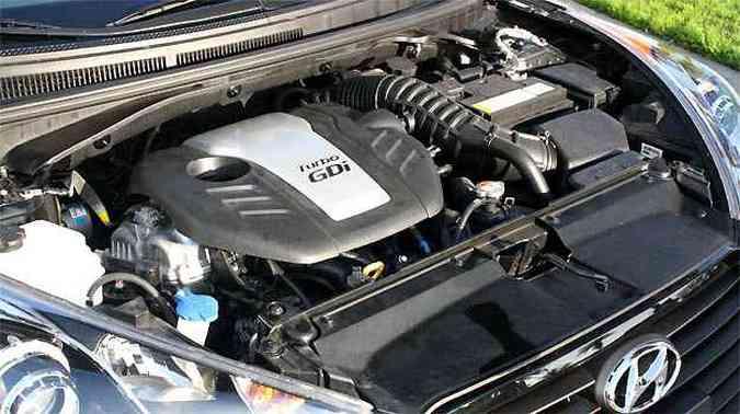 Motor 1.6 Turbo com injeção direta rende 204 cv de potência(foto: Marcello Oliveira/EM/D.A PRESS)