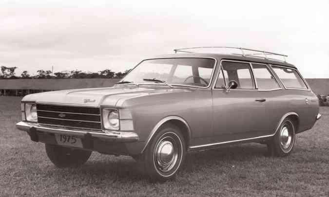 A perua Caravan foi lançada em 1975, junto com uma reestilização mais profunda(foto: Chevrolet/Divulgação)
