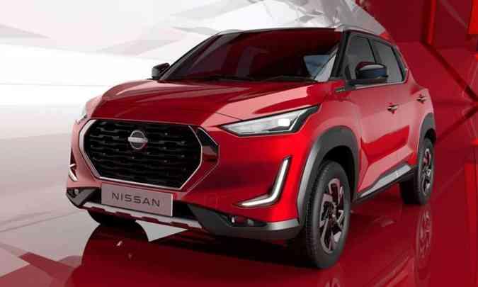 Existe a expectativa de que a Nissan comercialize o SUV compacto Magnite no Brasil(foto: Nissan/Divulgação)