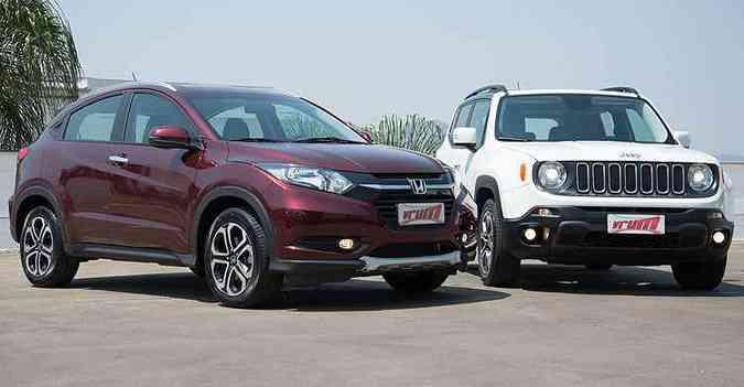 Honda HR-V EXL vale R$ 92,9 mil, enquanto o Renegade Longitude parte dos R$ 84,9 mil(foto: Thiago Ventura/EM/D.A Press)