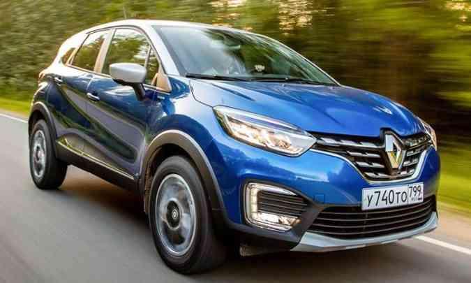 O visual do modelo brasileiro deverá seguir as linhas do Kaptur vendido na Rússia, com discretas mudanças na frente (foto: Renault/Divulgação)