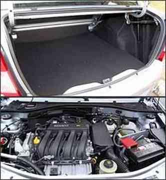 Porta-malas enorme para a bagabem da família. Motor 1.6 16V tem bom desempenho
