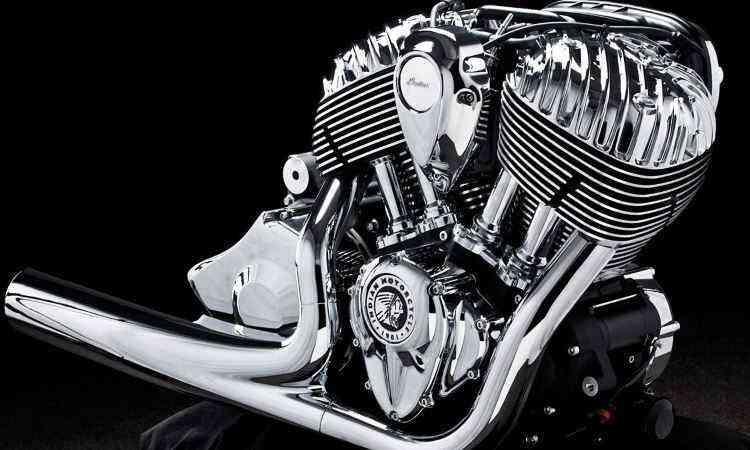 Motor de dois cilindros em V (V-Twin) tem muito torque - Gustavo Epifânio/Indian/Divulgação