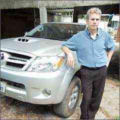 Altair é um dos muitos donos de Hilux que reclamaram de empeno no disco de freio - Euler Junior/EM/D.A Press - 5/3/09