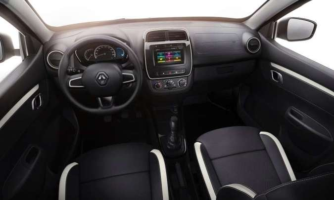 O Kwid Life vem com pré disposição para rádio e se o cliente quiser multimídia tem que pagar à parte(foto: Renault/Divulgação)